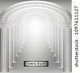corridor passage arches ...   Shutterstock .eps vector #1097611127