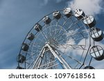 ferris wheel. observation. | Shutterstock . vector #1097618561