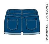 women's clothing denim shorts ... | Shutterstock .eps vector #1097620961