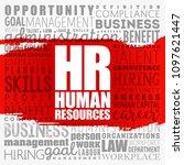 hr   human resources word cloud ... | Shutterstock .eps vector #1097621447