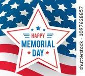 happy memorial day greeting... | Shutterstock .eps vector #1097628857