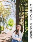 portrait of beautiful caucasian ...   Shutterstock . vector #1097633675