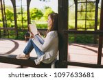 portrait of beautiful calm...   Shutterstock . vector #1097633681