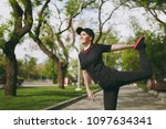 young athletic beautiful...   Shutterstock . vector #1097634341