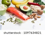 assortment of food   natural... | Shutterstock . vector #1097634821
