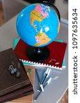 globe  with school accessories  ... | Shutterstock . vector #1097635634