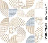 japanese template vector. gold... | Shutterstock .eps vector #1097637374