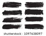 set of grunge banners.grunge... | Shutterstock .eps vector #1097638097