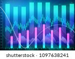 abstract glowing forex chart...   Shutterstock . vector #1097638241