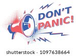don't panic   sign with...   Shutterstock .eps vector #1097638664
