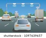 highway communication system... | Shutterstock .eps vector #1097639657