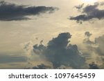 beautiful cloud pattern on the... | Shutterstock . vector #1097645459