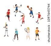 sport isometric  outfield sport ... | Shutterstock .eps vector #1097645744
