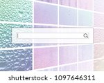 the search field is located on... | Shutterstock . vector #1097646311