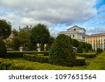 fantastic green park with... | Shutterstock . vector #1097651564