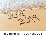 new year 2019 replace 2018 on... | Shutterstock . vector #1097651801