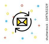 reload refresh mail    Shutterstock .eps vector #1097652329