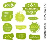 healthy food icons  labels.... | Shutterstock .eps vector #1097652677