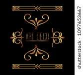 beauty scroll antique ornament...   Shutterstock .eps vector #1097653667