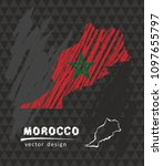 morocco national vector map... | Shutterstock .eps vector #1097655797
