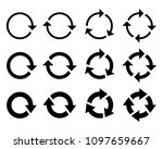circle arrow icon. refresh and... | Shutterstock .eps vector #1097659667