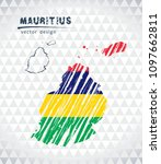 map of mauritius with hand... | Shutterstock .eps vector #1097662811