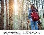 an asian woman is a...   Shutterstock . vector #1097669219