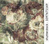 art vintage watercolor and... | Shutterstock . vector #1097671169