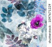 art vintage watercolor colorful ... | Shutterstock . vector #1097671229