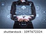 coding software developer work...   Shutterstock . vector #1097672324