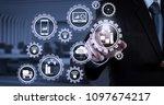 smart factory and industry 4.0... | Shutterstock . vector #1097674217