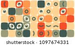 colored abstract geometric flat ... | Shutterstock .eps vector #1097674331