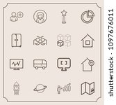 modern  simple vector icon set... | Shutterstock .eps vector #1097676011