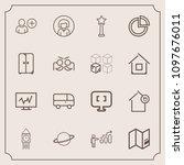 modern  simple vector icon set...   Shutterstock .eps vector #1097676011
