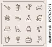 modern  simple vector icon set... | Shutterstock .eps vector #1097676041