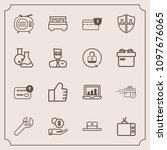 modern  simple vector icon set...   Shutterstock .eps vector #1097676065