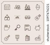 modern  simple vector icon set...   Shutterstock .eps vector #1097676221
