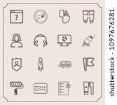 modern  simple vector icon set... | Shutterstock .eps vector #1097676281