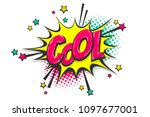 cool burst wow comic text... | Shutterstock .eps vector #1097677001