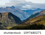 the landscape of the lake with... | Shutterstock . vector #1097680271