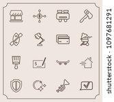modern  simple vector icon set... | Shutterstock .eps vector #1097681291