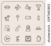 modern  simple vector icon set...   Shutterstock .eps vector #1097681801