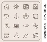 modern  simple vector icon set... | Shutterstock .eps vector #1097681987