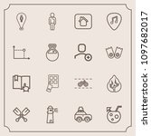 modern  simple vector icon set... | Shutterstock .eps vector #1097682017