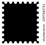 vector postage stamp icon | Shutterstock .eps vector #1097682761