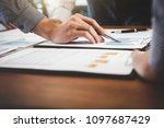 business financing accounting...   Shutterstock . vector #1097687429