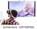children play in virtual... | Shutterstock . vector #1097689904