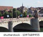 basel  switzerland on july 2017 ... | Shutterstock . vector #1097689955