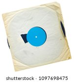old grungy vinyl record with...   Shutterstock . vector #1097698475