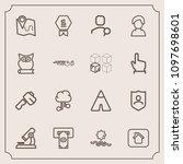 modern  simple vector icon set...   Shutterstock .eps vector #1097698601
